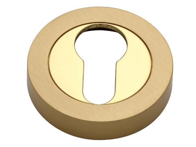 Szyld drzwiowy okrągły wkładka złoty/złoty matowy VES-OK-Y-OL-SA Verdi