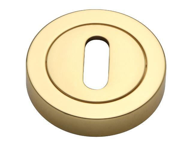 Szyld drzwiowy okrągły klucz złoty/złoty matowy VES-OK-N-OL Verdi