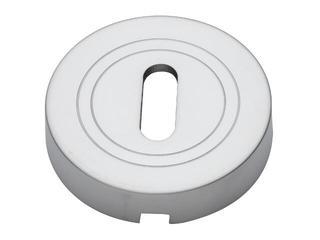 Szyld drzwiowy okrągły klucz chrom satynowy PLT-23-N-08-SU Gamet