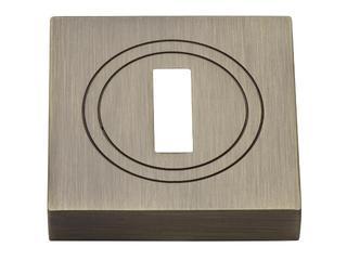 Szyld drzwiowy kwadratowy klucz mosiądz antyczny PLT-23-N-AB-KW-SU Gamet