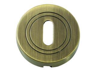 Szyld drzwiowy okrągły klucz mosiądz antyczny PLT-23-N-AB-SU Gamet