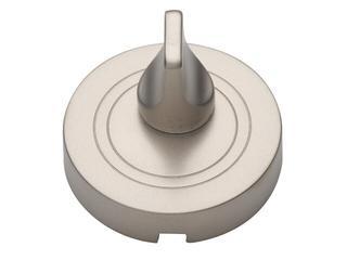 Szyld drzwiowy okrągły WC nikiel satynowy PLT-23WC-06-SU Gamet