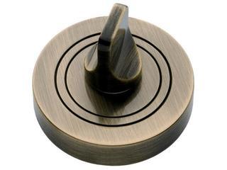 Szyld drzwiowy okrągły WC mosiądz antyczny PLT-23WC-AB-SU Gamet