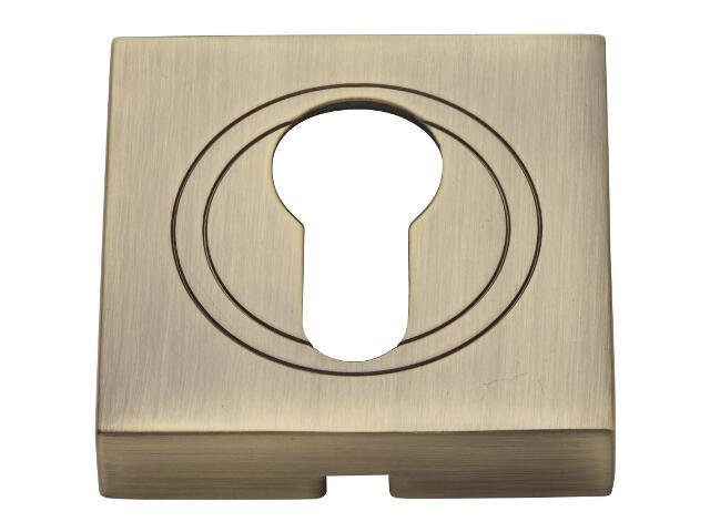 Szyld drzwiowy kwadratowy wkładka mosiądz antyczny PLT-23-Y-AB-KW-SU Gamet