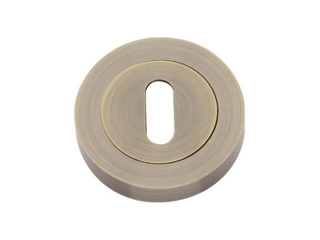 Szyld drzwiowy Basic Line szyld okrągły klucz mosiądz antyczny PLT-24Z-N-AB-BL Gamet