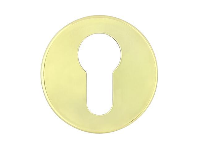 Szyld drzwiowy okrągły 6060 wkładka bebenkowa mosiądz lakierowany ROSSETTI