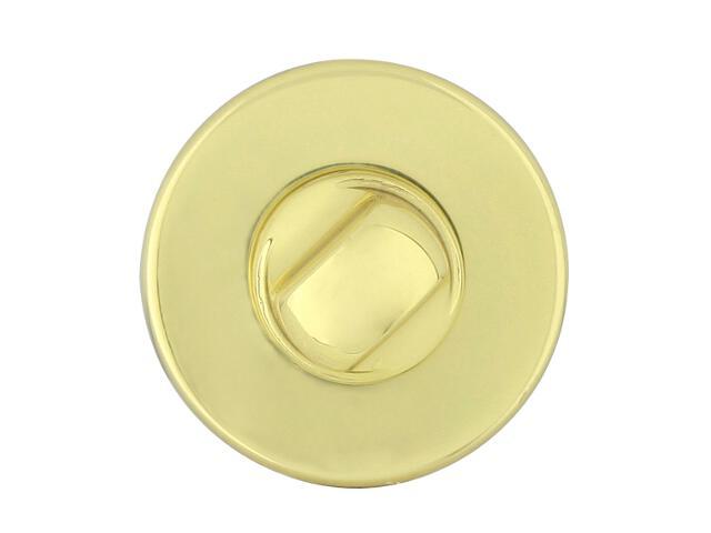 Szyld drzwiowy okrągły 6060 WC mosiądz lakierowany ROSSETTI