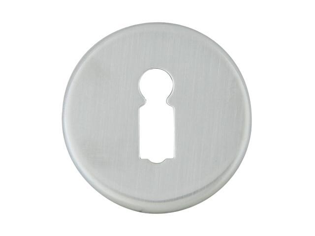 Szyld drzwiowy okrągły 6060 klucz chrom satyna ROSSETTI