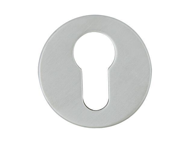 Szyld drzwiowy okrągły 6060 wkładka bębenkowa chrom satyna ROSSETTI