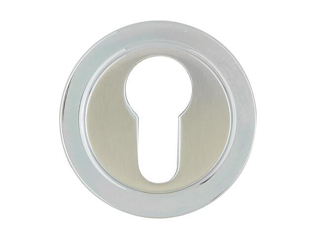 Szyld drzwiowy okrągły 555 wkładka bębenkowa chrom lakierowany/nikiel lakierowany ROSSETTI