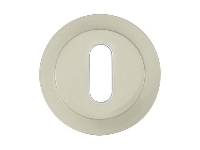 Szyld drzwiowy okrągły 555 klucz nikiel lakierowany ROSSETTI
