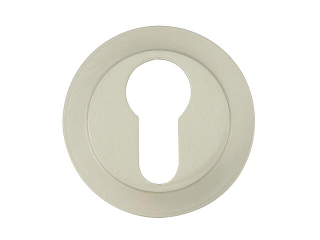 Szyld drzwiowy okrągły 555 wkładka bębenkowa nikiel lakierowany ROSSETTI