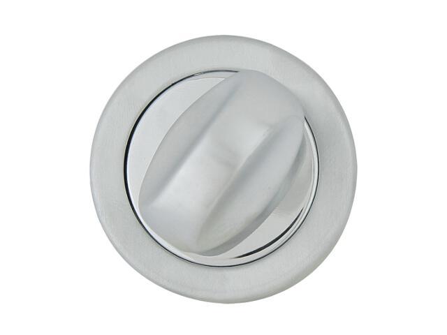 Szyld drzwiowy okrągły 555 WC chrom lakierowany/chrom satyna ROSSETTI