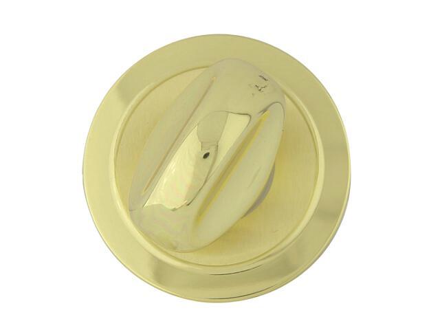 Szyld drzwiowy okrągły 555 WC mosiądz lakierowany/satynowany ROSSETTI