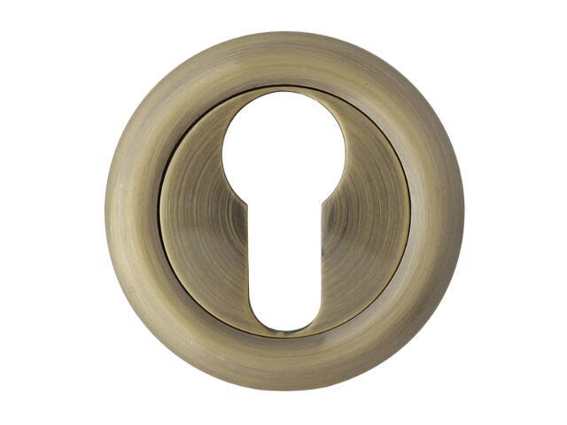 Szyld drzwiowy okrągły 900 wkładka bębenkowa brąz grafiatto Domino