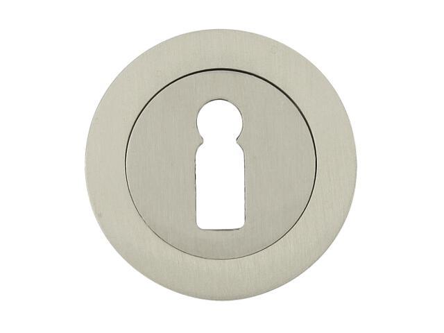 Szyld drzwiowy okrągły 600 klucz nikiel lakierowany Domino