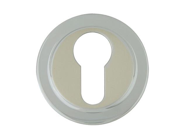 Szyld drzwiowy okrągły 555 wkładka bebenkowa chrom perłowy/nikiel lakierowany ROSSETTI