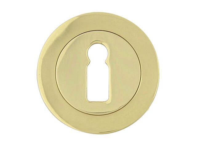 Szyld drzwiowy okrągły 600 klucz mosiądz lakierowany Domino