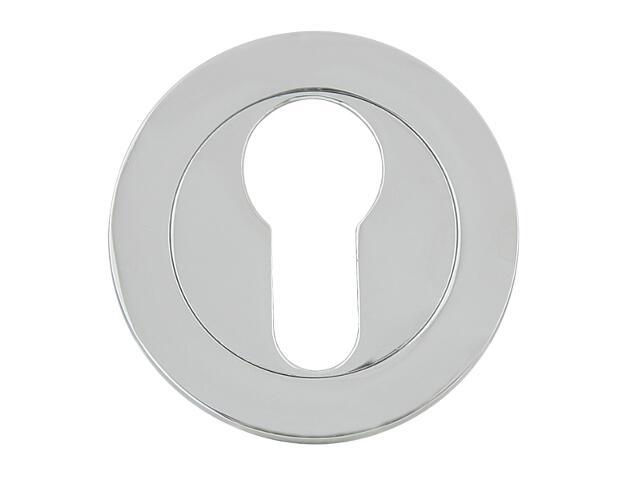 Szyld drzwiowy okrągły 600 wkładka bębenkowa chrom lakierowany Domino