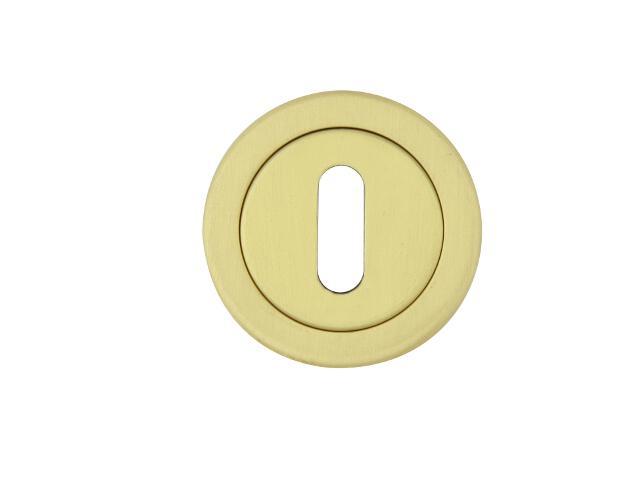 Szyld drzwiowy okrągły 780 klucz mosiądz satyna TUPAI