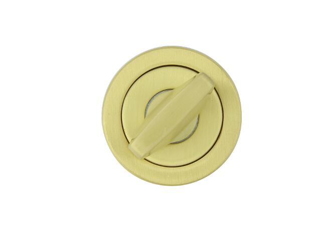 Szyld drzwiowy okrągły 780 WC mosiądz satyna TUPAI