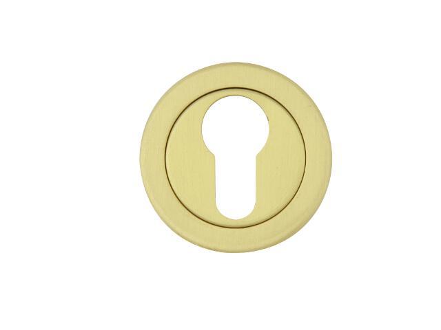 Szyld drzwiowy okrągły 780 wkładka bębenkowa mosiądz satyna TUPAI