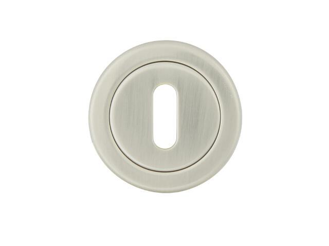 Szyld drzwiowy okrągły 780 klucz nikiel lakierowany TUPAI