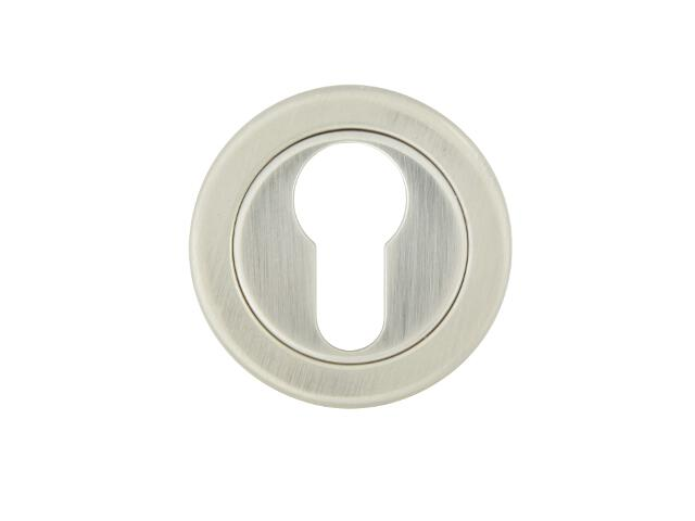 Szyld drzwiowy okrągły 780 wkładka bębenkowa nikiel lakierowany TUPAI