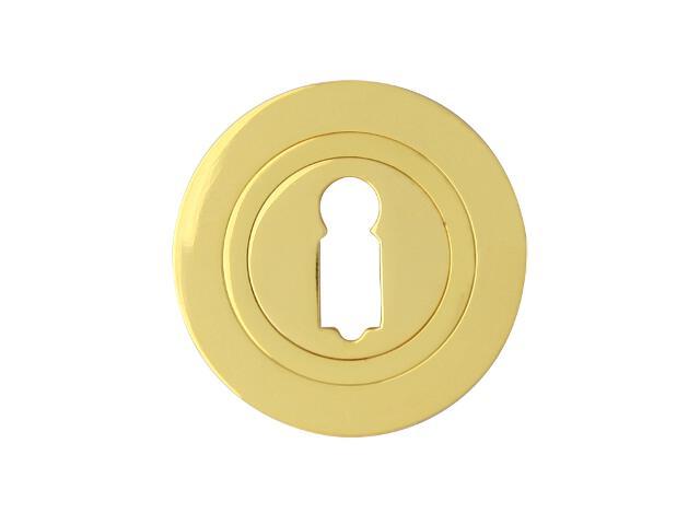 Szyld drzwiowy okrągły 980 klucz mosiądz lakierowany Domino