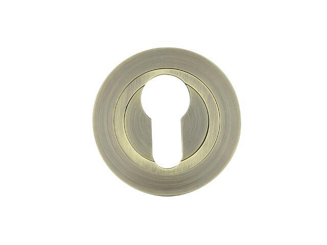 Szyld drzwiowy okrągły 980 wkładka bębenkowa brąz grafiatto Domino