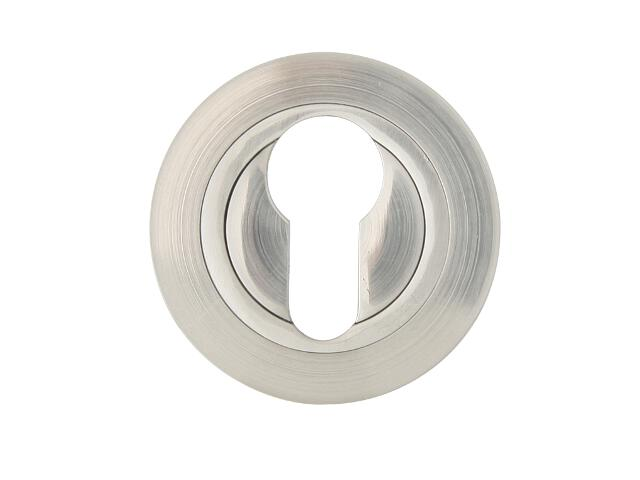 Szyld drzwiowy okrągły 980 wkładka bębenkowa nikiel lakierowany Domino