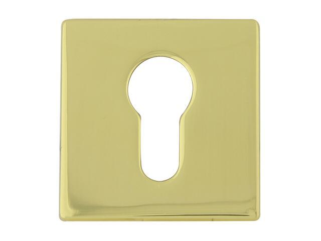 Szyld drzwiowy kwadratowy 546 wkładka bebenkowa mosiądz lakierowany/mosiądz satynowany ROSSETTI