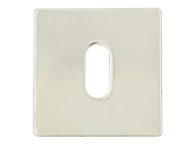 Szyld drzwiowy kwadratowy 546 klucz chrom perłowy/nikiel lakierowany ROSSETTI