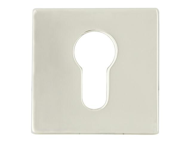 Szyld drzwiowy kwadratowy 546 wkładka bębenkowa chrom perłowy/nikiel lakierowany ROSSETTI