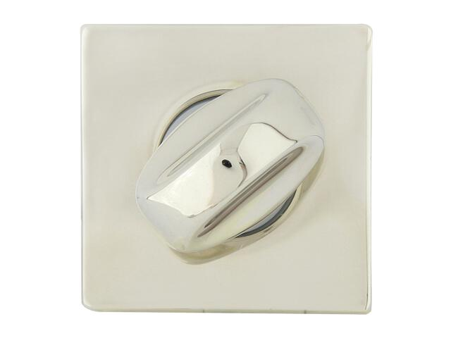 Szyld drzwiowy kwadratowy 546 WC chrom perłowy/nikiel lakierowany ROSSETTI