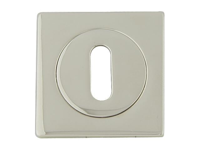 Szyld drzwiowy kwadratowy 569 klucz chrom perłowy ROSSETTI