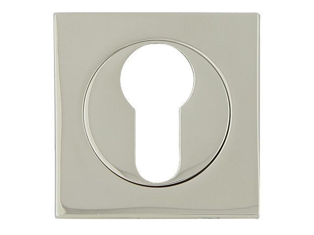 Szyld drzwiowy kwadratowy 569 wkładka bębenkowa chrom perłowy ROSSETTI
