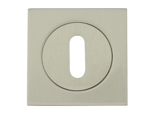 Szyld drzwiowy kwadratowy 569 klucz nikiel lakierowany ROSSETTI
