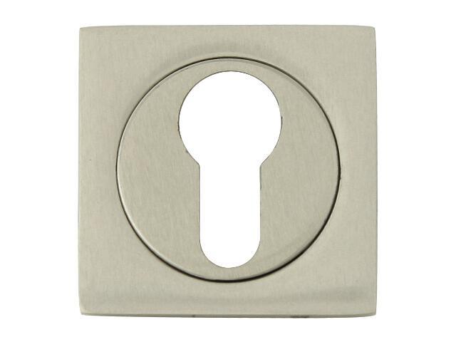 Szyld drzwiowy kwadratowy 569 wkładka bębenkowa nikiel lakierowany ROSSETTI