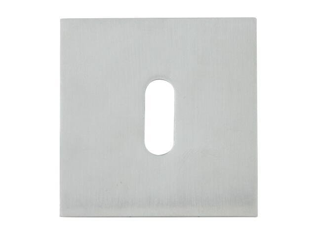 Szyld drzwiowy kwadratowy 544 klucz chrom satyna ROSSETTI