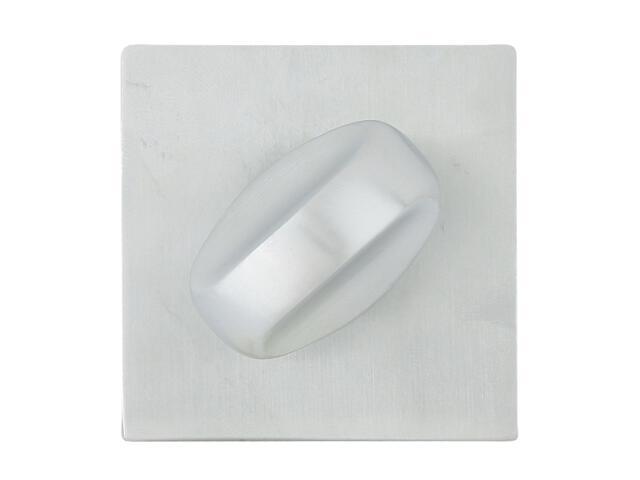Szyld drzwiowy kwadratowy 544 WC chrom satyna ROSSETTI