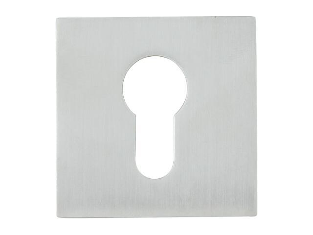 Szyld drzwiowy kwadratowy 544 wkładka bebenkowa chrom satyna ROSSETTI