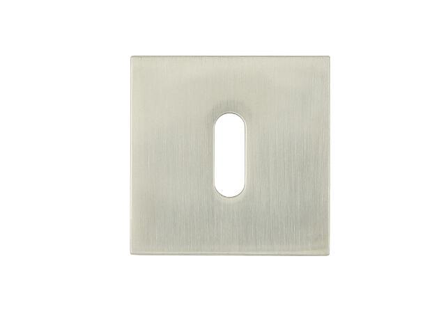 Szyld drzwiowy kwadratowy VICTORIA-QR klucz nikiel lakierowany TUPAI