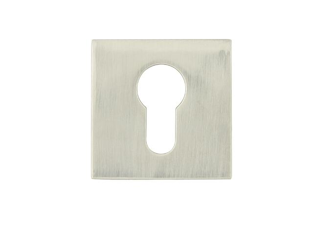 Szyld drzwiowy kwadratowy VICTORIA-QR wkładka bębenkowa nikiel lakierowany TUPAI