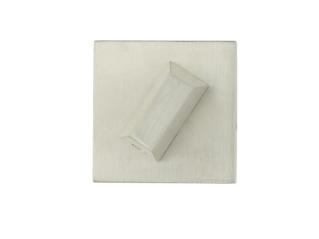 Szyld drzwiowy kwadratowy VICTORIA-QR WC nikiel lakierowany TUPAI