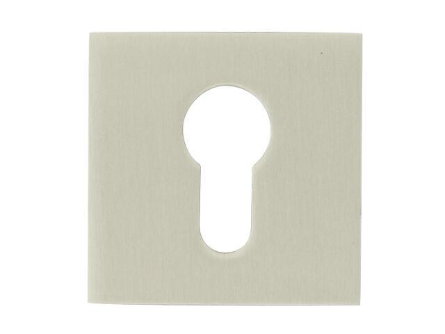 Szyld drzwiowy kwadratowy 544 wkładka bębenkowa nikiel lakierowany ROSSETTI