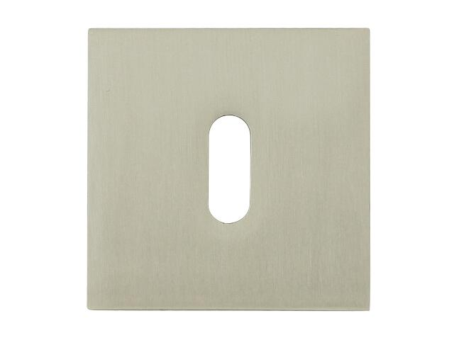Szyld drzwiowy kwadratowy 544 klucz nikiel lakierowany ROSSETTI