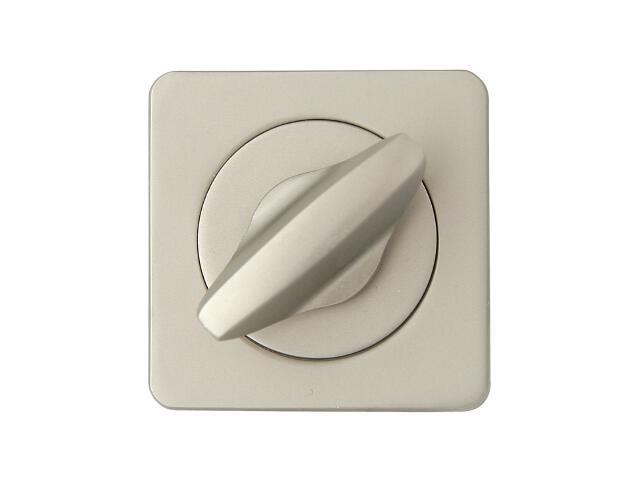 Szyld drzwiowy kwadratowy ALMA-Q WC nikiel satyna Domino