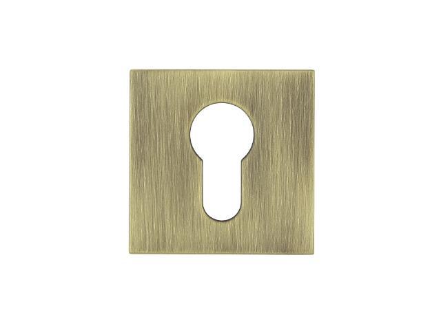 Szyld drzwiowy kwadratowy KWADRAT-QR wkładka bębenkowa brąz mat TUPAI
