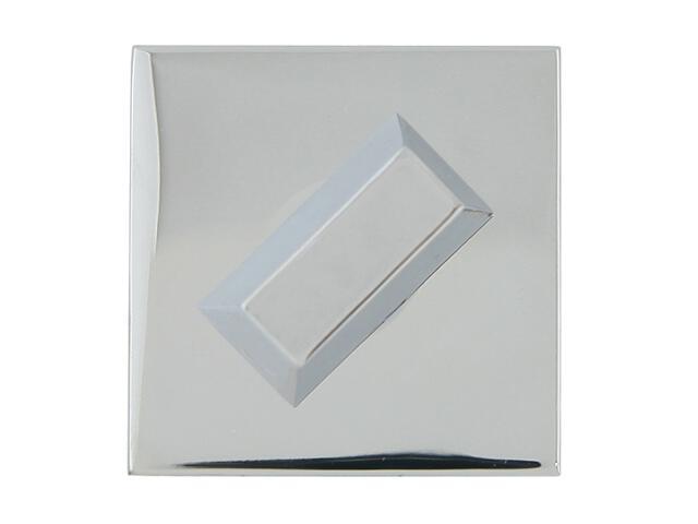 Szyld drzwiowy kwadratowy KWADRAT-QR WC chrom lakierowany TUPAI